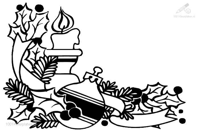 Coloringpage Christmas Candle