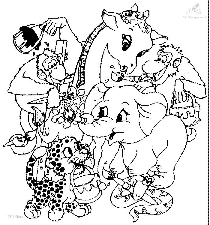 free coloring pages of hard animal pages