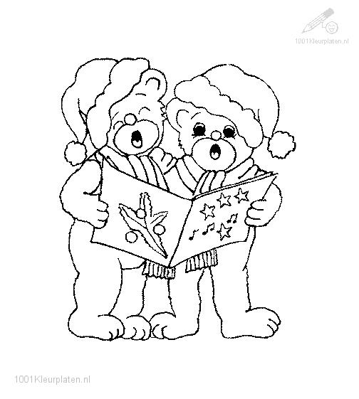 Bears singing a christmas chorus