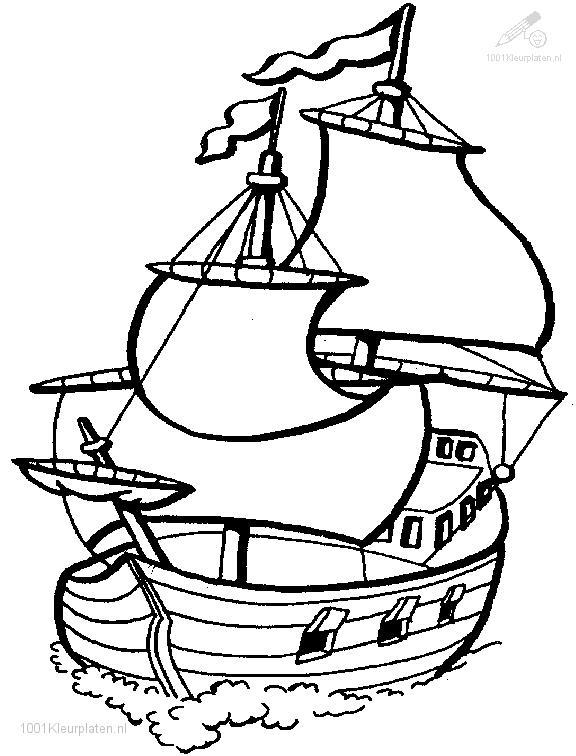 Coloringpage: boat-coloring-page-1