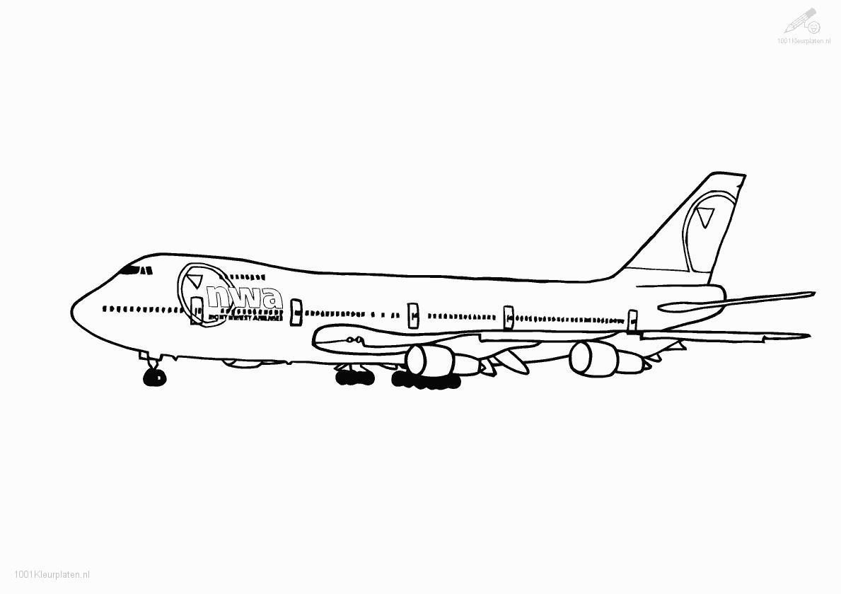 Kleurplaat Boeing 747