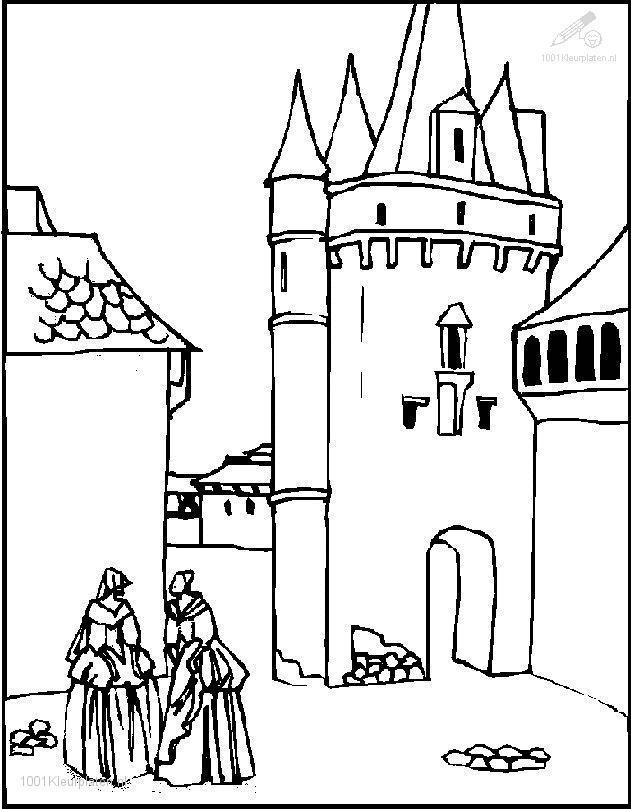 Castle Coloring Page