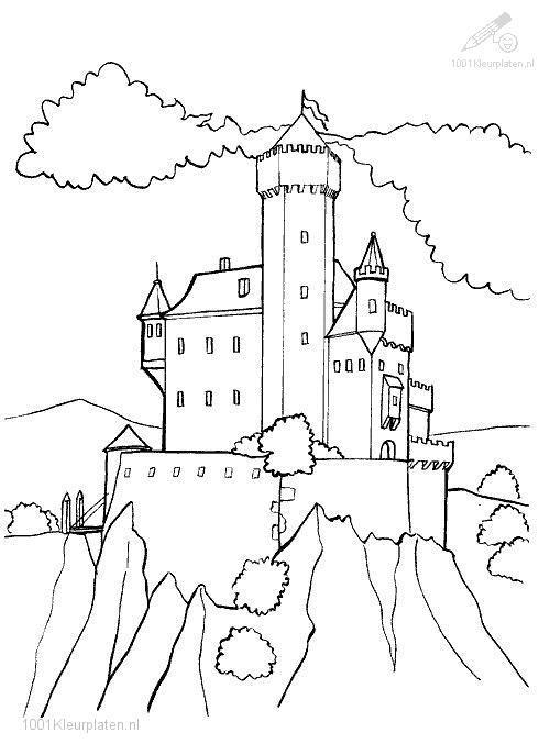 castle coloring pages - photo#47