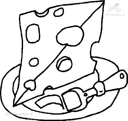 1001 Coloringpages Food And Drinks Food Cheese Coloring Page