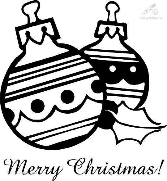Christmas Bauble Coloring Page