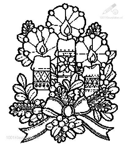 Christmas >> Candles >> Coloring Page Christmas Candle