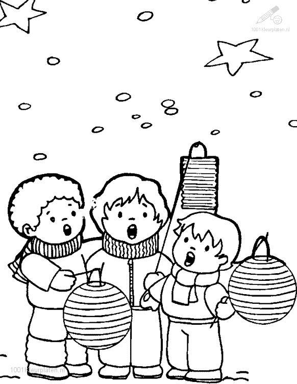 Coloringpage: christmas-chorus