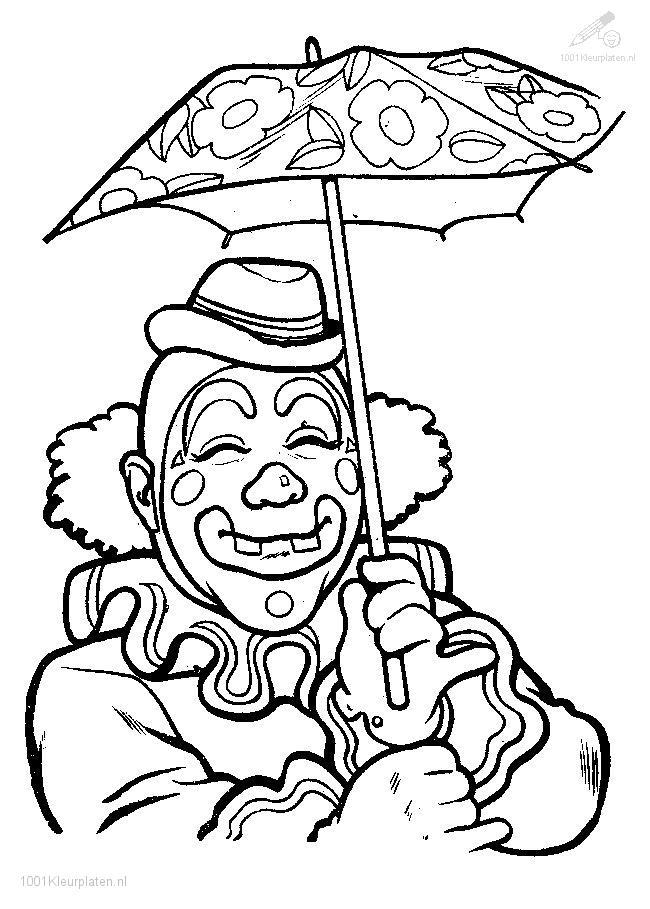 Kleurplaten Circus Clown.1001 Coloringpages Circus Clown Clown Coloring Page