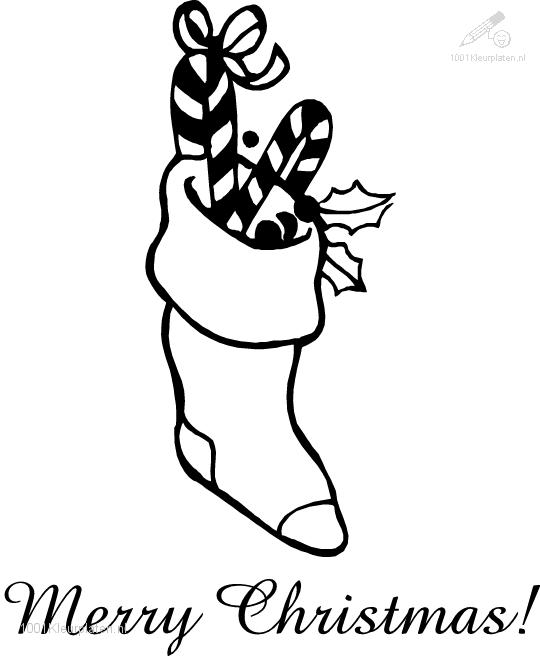 Coloring Page Christmas Sock