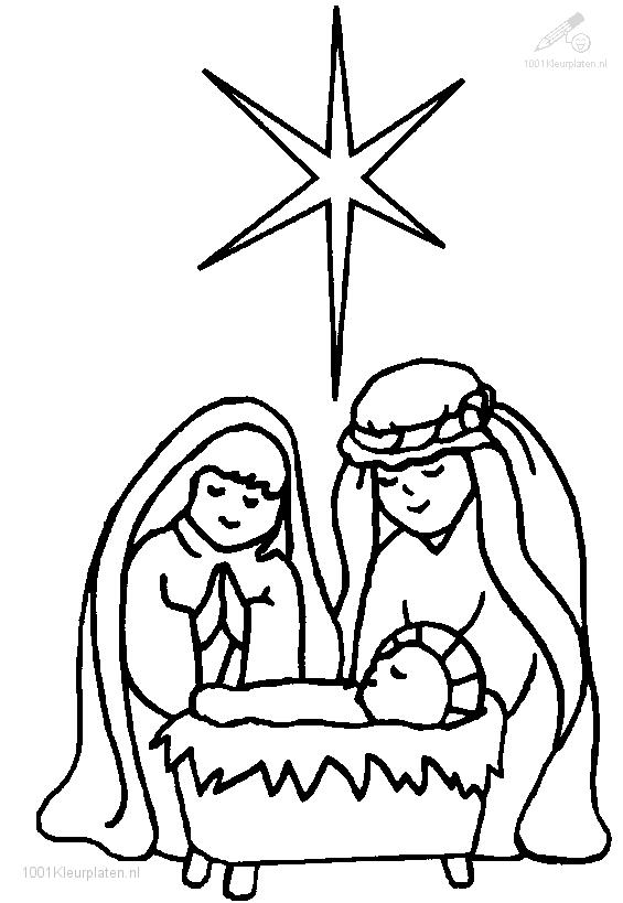 Christmas Stable Coloring Page