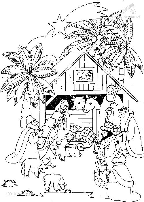 Coloringpage: coloring-page-christmas-stable-5