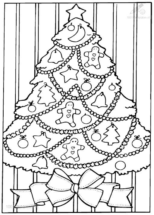 full page christmas coloring pages | Christmas Tree Coloring Page