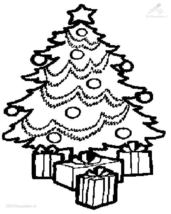 christmas tree coloring book coloring page  nivucolorhd