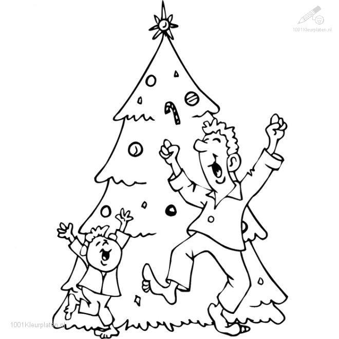 Full Size Christmas Tree Coloring Page