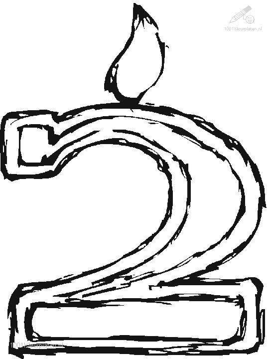 Coloring Page Digit 2