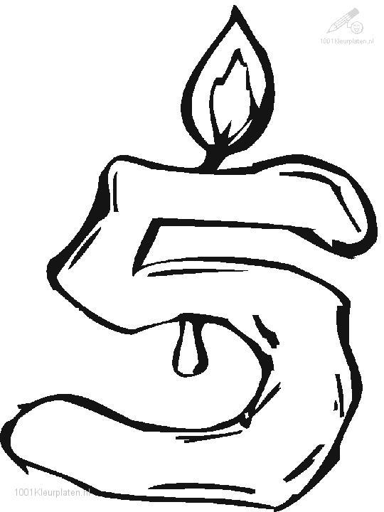 Coloring Page Digit 5