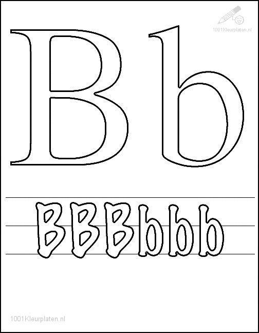 Coloring Page Letter B