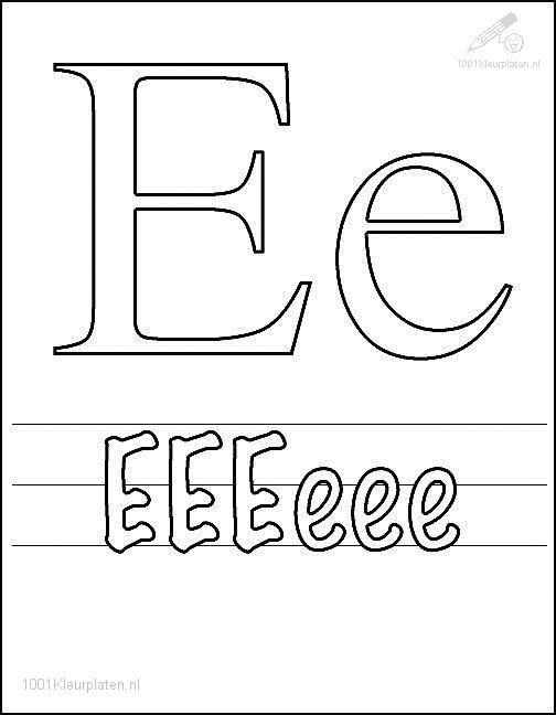 Coloring Page Letter E