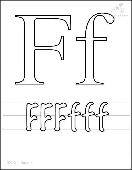 f letter coloring pages - photo #26