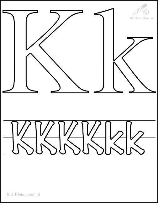 Coloring Page Letter K