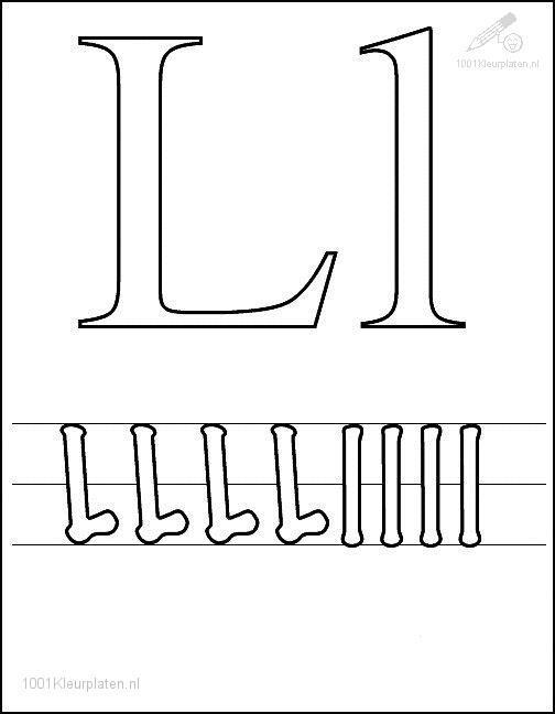 Coloring Page Letter L
