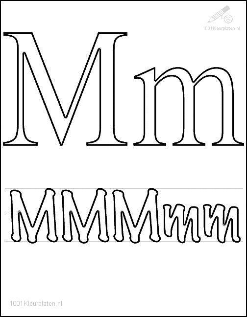 Coloring Page Letter M