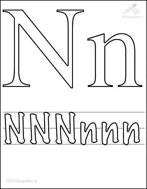 Coloring Page Letter N