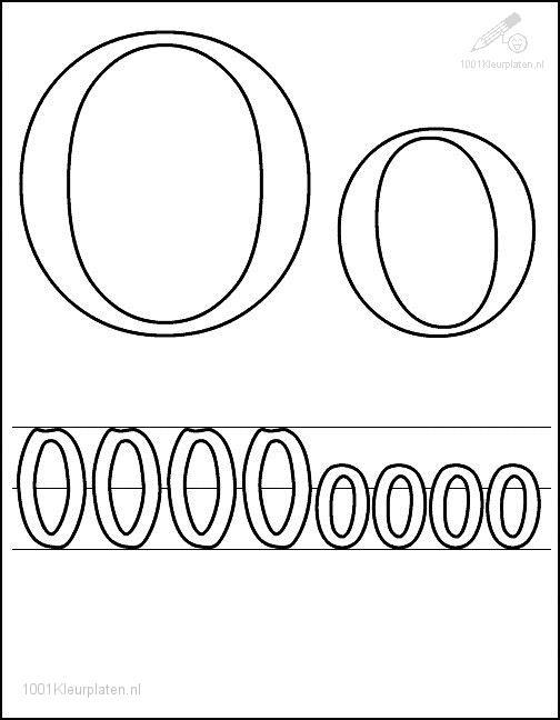 Coloring Page Letter O