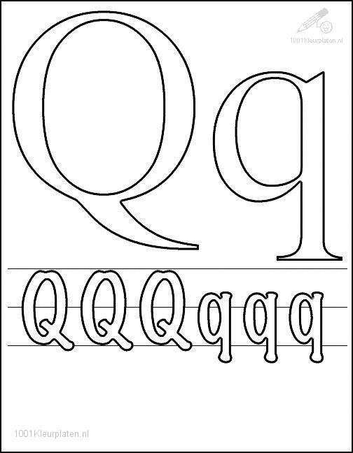 q letter coloring pages - photo #26