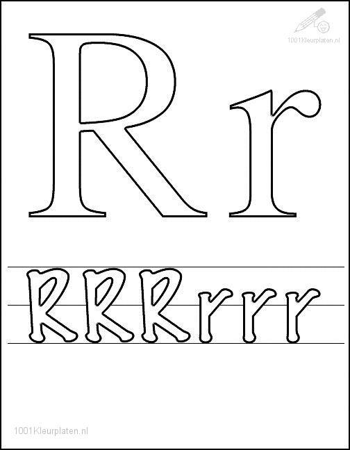 Coloring Page Letter R