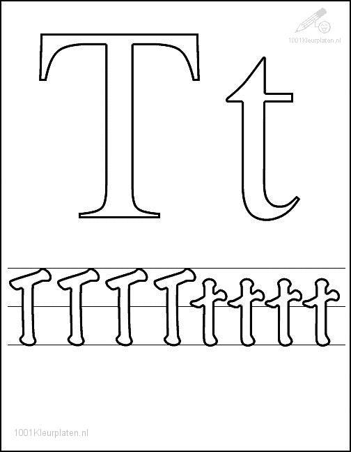 Coloring Page Letter T