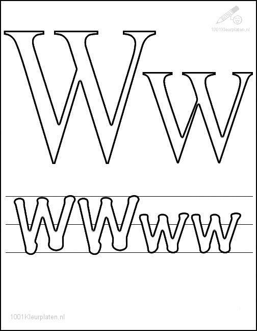 Coloring Page Letter W