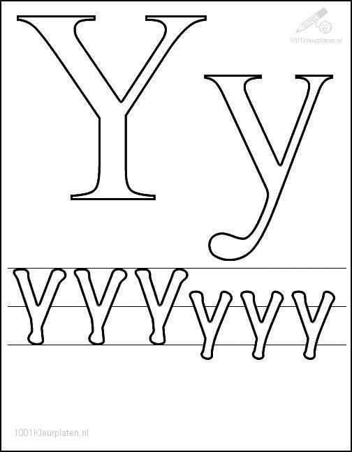Coloring Page Letter Y