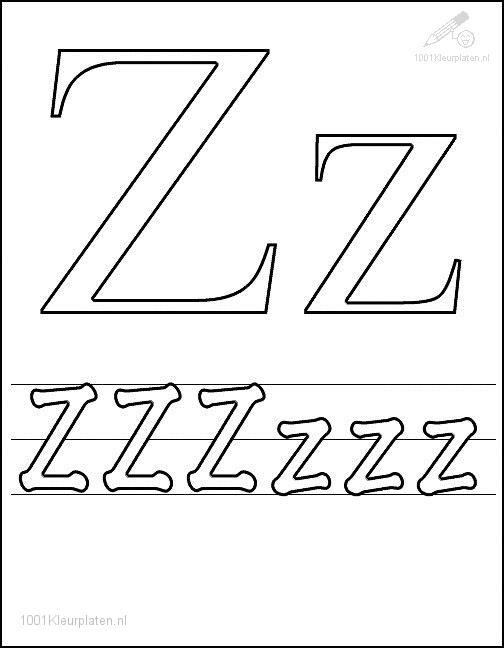 Coloring Page Letter Z