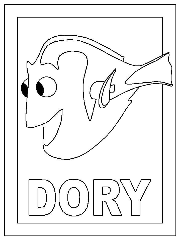 Coloring Page Dory
