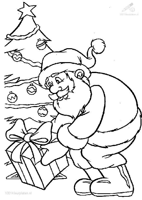 pictures santa claus coloring pages - photo#28
