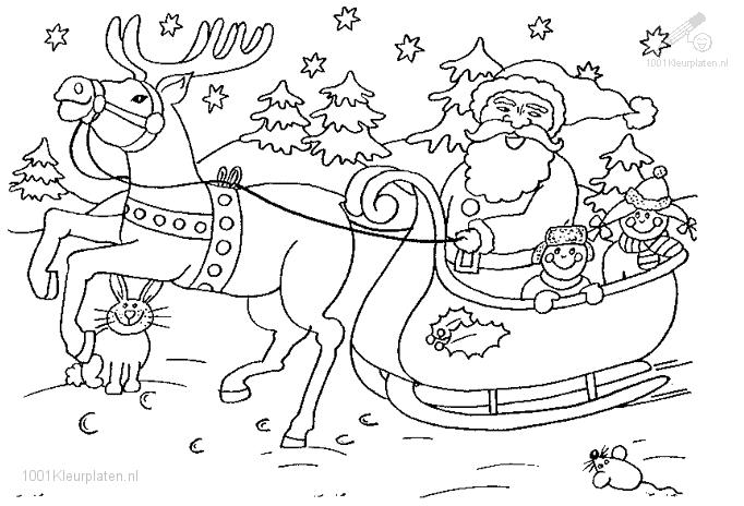 Santa on his sled