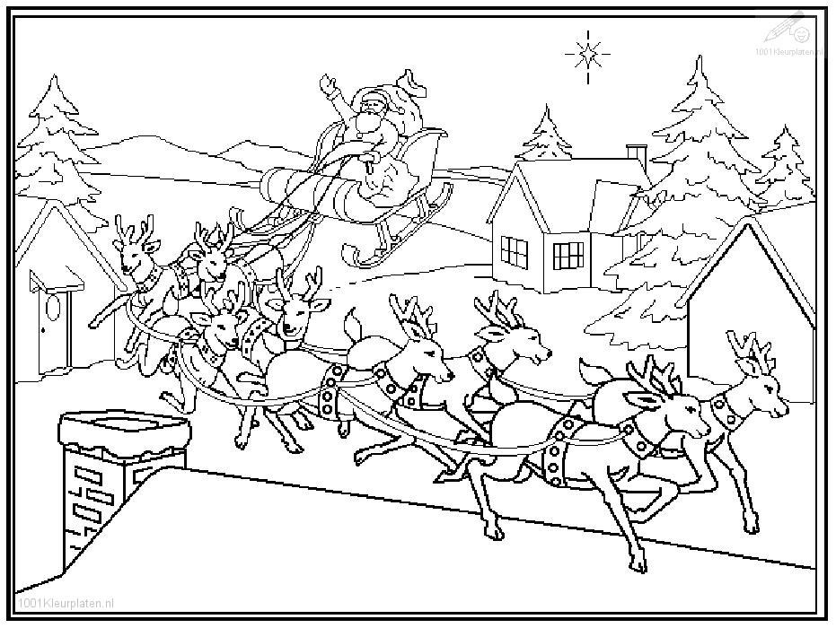 santa horse buggy coloring pages - photo#11
