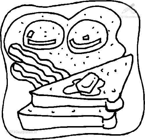 Toast Coloring Page