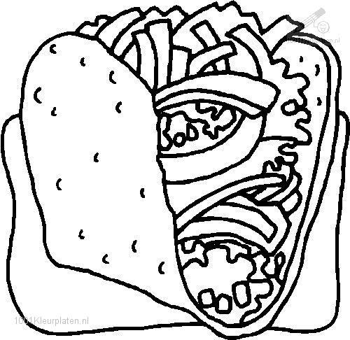 coloring pages images sandwiches - photo#12