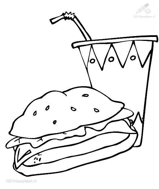 Coloring Page snack