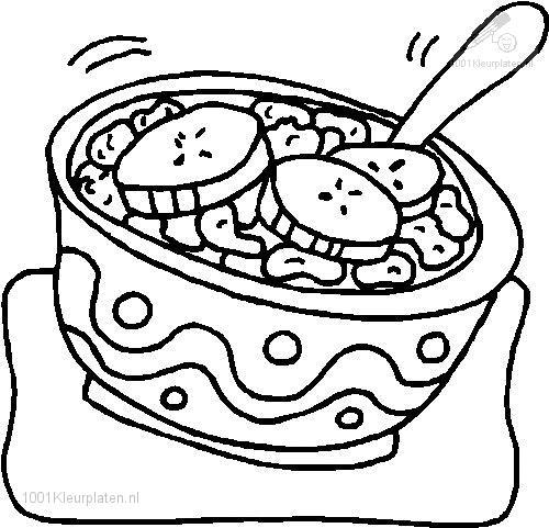 Free Coloring Pages Of Blank Soup Can Soup Coloring Pages