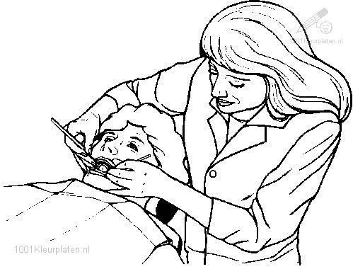 1001 COLORINGPAGES : Jobs >> Dentist >> Dentist Coloring Page