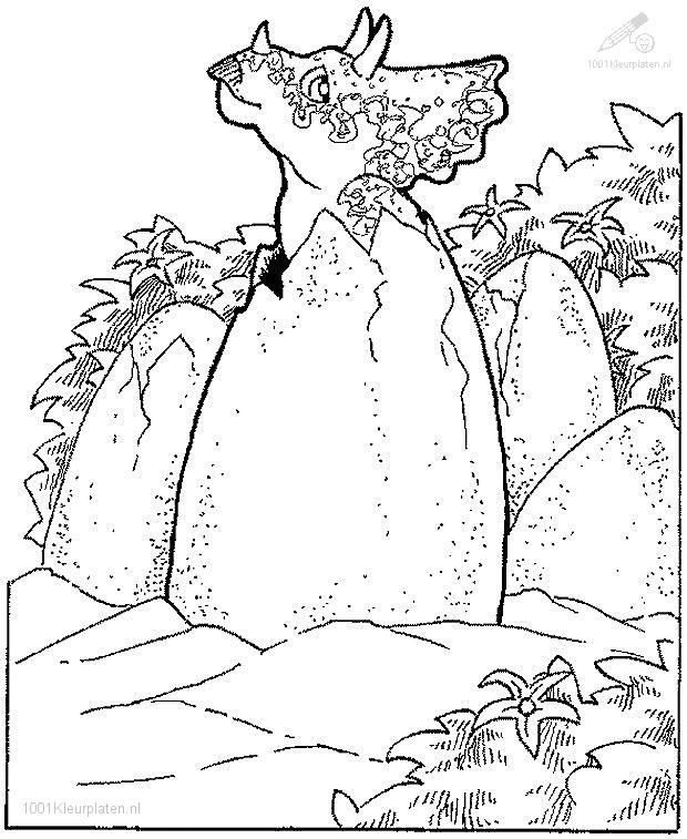 Prehistoric coloring page