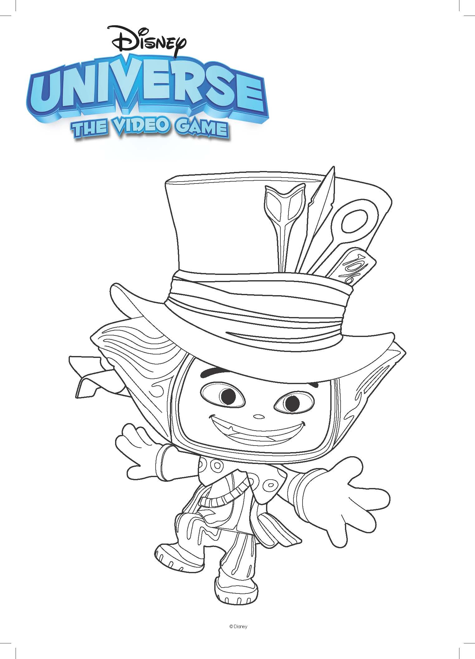 Mad Hatter Coloring Page