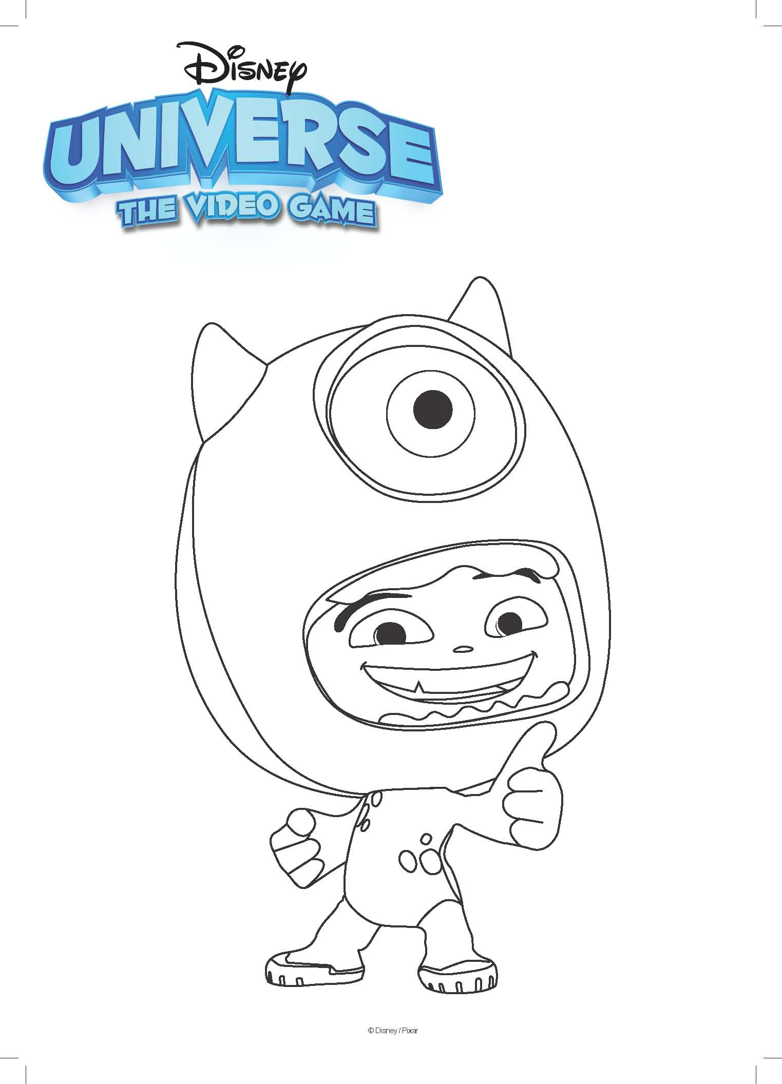 Disney Mike Coloring Page