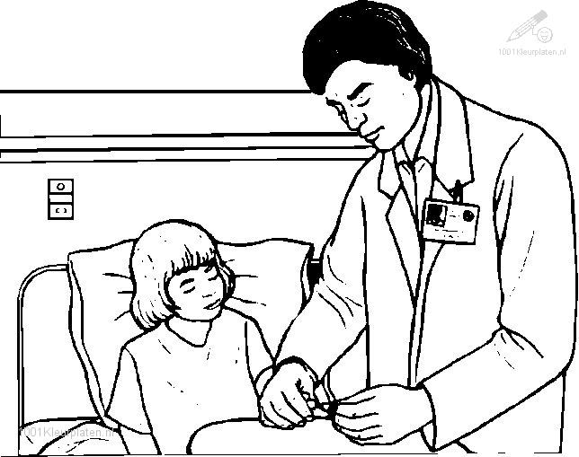 Coloringpage: doctor-coloring-page