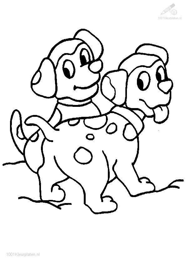 1001 Coloringpages Animals Dog Dog Coloring Page