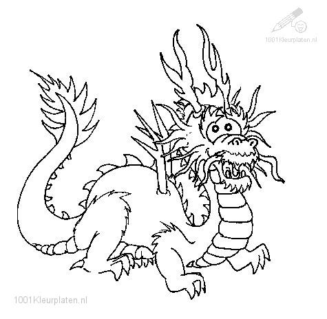 Dragon Coloring Pages on 1001 Coloringpages   Animals    Dragon    Dragon Coloring Page