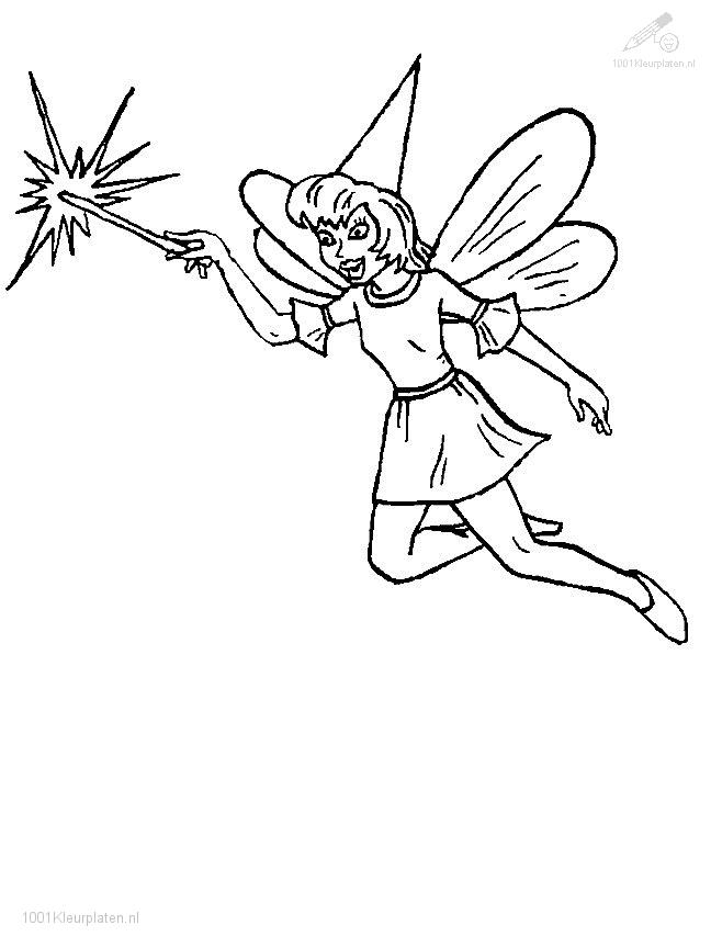 Elfs Coloring Page
